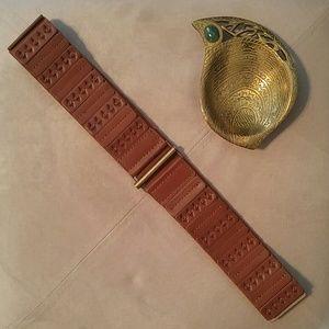 New! Boho Cognac belt